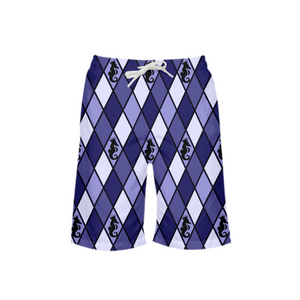 Dwayne Elliott Collection Blue Argyle Boy's Swim Trunk - Dwayne Elliott Collection