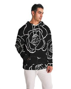 Dwayne Elliott Collection Black Rose Men's Hoodie - Dwayne Elliott Collection