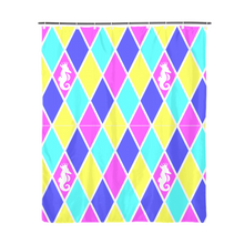 "Laden Sie das Bild in den Galerie-Viewer, Dwayne Elliott Collection Argyle Shower Curtain 72""x72"" - Dwayne Elliott Collection"