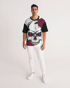 Dwayne Elliott Collection Skull Rose Men's Premium Heavyweight Tee - Dwayne Elliott Collection