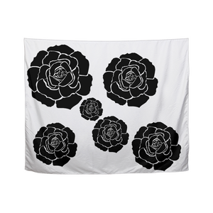 "Dwayne Elliot Collection Black Rose Tapestry 60""x51"" - Dwayne Elliott Collection"