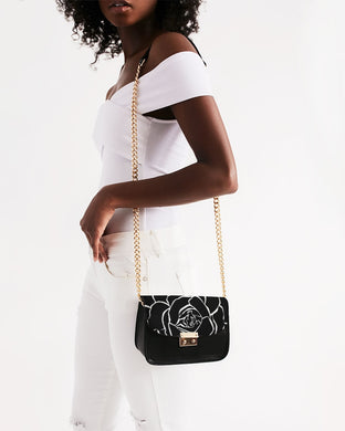 Dwayne Elliot Collection Black Rose Small Shoulder Bag - Dwayne Elliott Collection