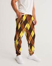 Load image into Gallery viewer, Dwayne Elliott Collection Brown Argyle Men's Track Pants - Dwayne Elliott Collection