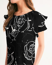 Load image into Gallery viewer, Dwayne Elliot Collection Black Rose Short Sleeve Chiffon Top - Dwayne Elliott Collection