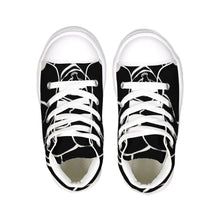 Load image into Gallery viewer, Dwayne Elliot Collection Black Rose Kids Hightop Canvas Shoe - Dwayne Elliott Collection