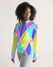 Laden Sie das Bild in den Galerie-Viewer, Dwayne Elliott Collection Women's Argyle Hoodie - Dwayne Elliott Collection