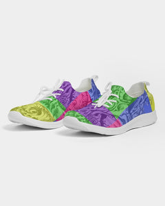 Skull Bow Women's Lace Up Flyknit Shoe