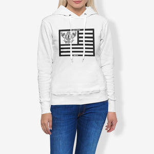 Dwayne Elliott Collection Flag Women's Pullover Hoodie - Dwayne Elliott Collection