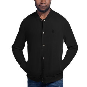 Dwayne Elliott Collection Embroidered Champion Bomber Jacket - Black Logo - Dwayne Elliott Collection