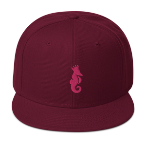 Dwayne Elliott Collection Snapback Hat - Flamingo Seahorse Logo - Dwayne Elliott Collection