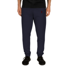 Load image into Gallery viewer, Dwayne Elliott Collection Unisex Joggers - Burgundy Embroidered Seahorse Logo - Dwayne Elliott Collection