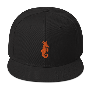 Dwayne Elliott Collection Snapback Hat - Orange Seahorse Logo - Dwayne Elliott Collection