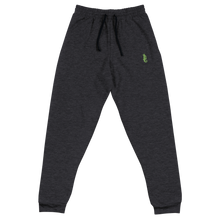 Load image into Gallery viewer, Dwayne Elliott Collection Unisex Joggers - Kiwi Green Embroidered Seahorse Logo - Dwayne Elliott Collection