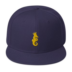 Dwayne Elliott Collection Snapback Hat - Yellow Seahorse Logo - Dwayne Elliott Collection
