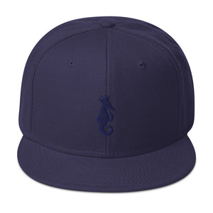 Dwayne Elliott Collection Snapback Hat - Navy Seahorse Logo - Dwayne Elliott Collection