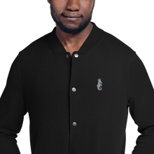 Load image into Gallery viewer, Dwayne Elliott Collection Embroidered Champion Bomber Jacket - Gray Logo - Dwayne Elliott Collection