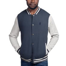 Load image into Gallery viewer, Dwayne Elliott Collection Embroidered Champion Bomber Jacket - Navy Logo - Dwayne Elliott Collection