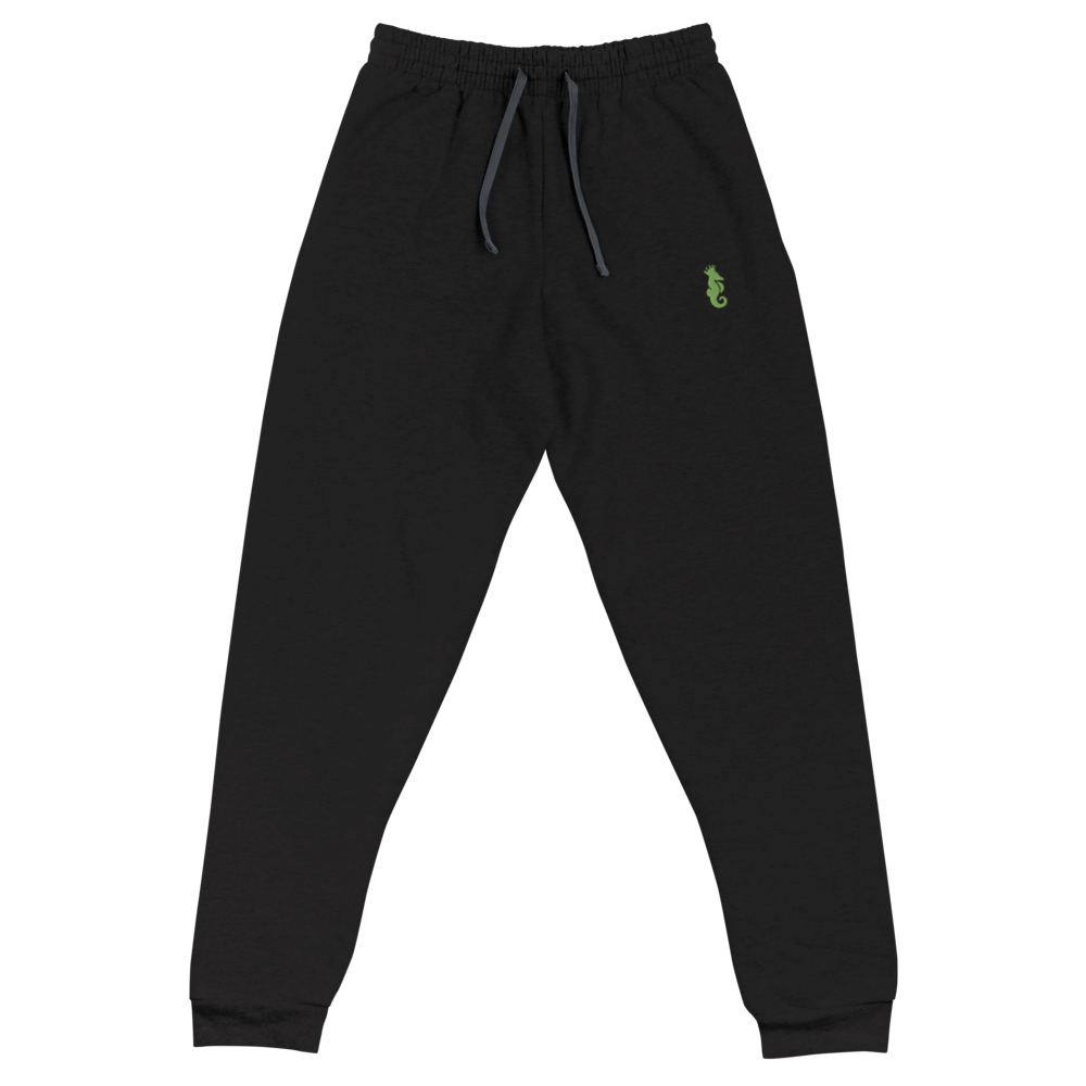 Dwayne Elliott Collection Unisex Joggers - Kiwi Green Embroidered Seahorse Logo - Dwayne Elliott Collection