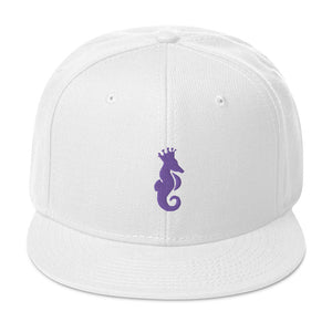 Dwayne Elliott Collection Snapback Hat - Purple Seahorse Logo - Dwayne Elliott Collection