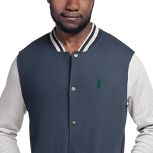 Load image into Gallery viewer, Dwayne Elliott Collection Embroidered Champion Bomber Jacket - Kelly Green Logo - Dwayne Elliott Collection