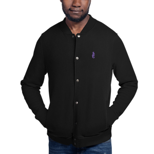 Dwayne Elliott Collection Embroidered Champion Bomber Jacket - Purple Logo - Dwayne Elliott Collection