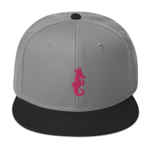 Load image into Gallery viewer, Dwayne Elliott Collection Snapback Hat - Flamingo Seahorse Logo - Dwayne Elliott Collection