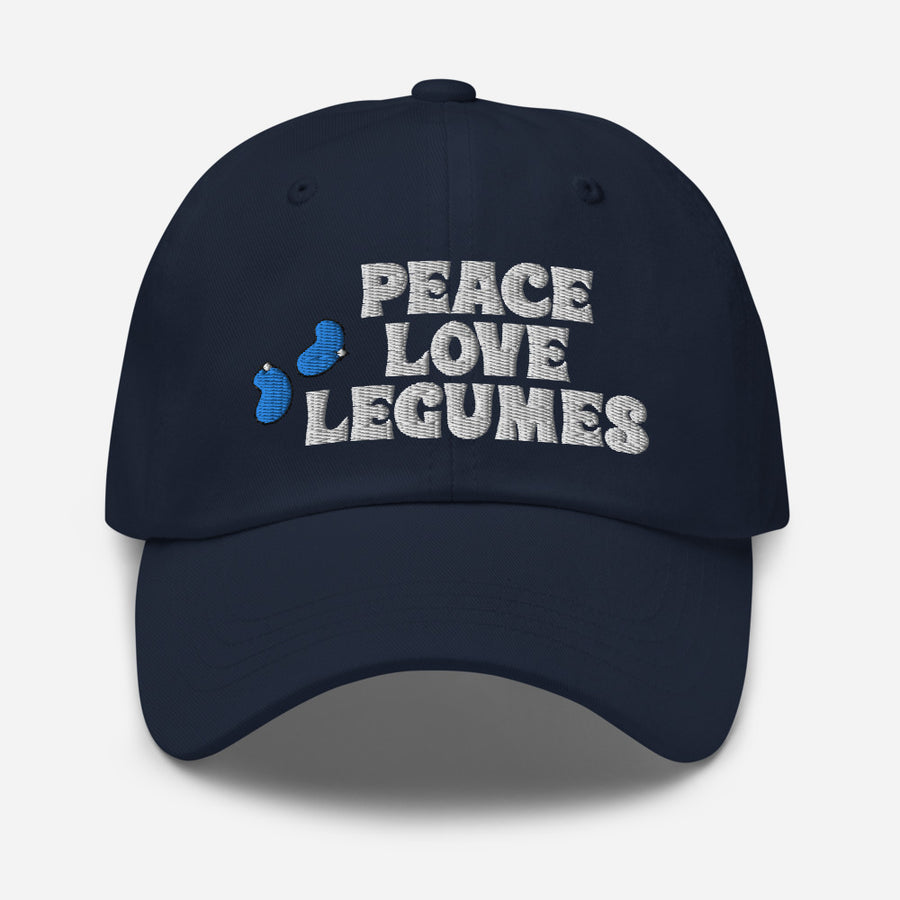 Peace, Love Legumes Hat - Dark