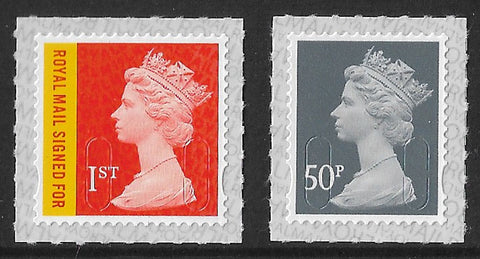 2019 Machin u/m mnh stamps with date code M19L 1st Royal Mail Signed For and 50p