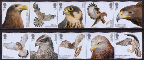 Birds of Prey u/m stamp set