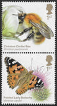 2020 Brilliant Bugs u/m mnh stamp set
