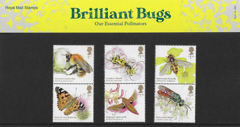 2020 Brilliant Bugs u/m mnh stamp presentation pack