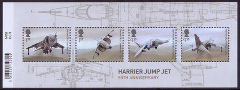 British Engineering Harrier Jump Jet u/m stamp miniature sheet