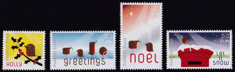 2017 Positively Postal Christmas Artistamps x 4