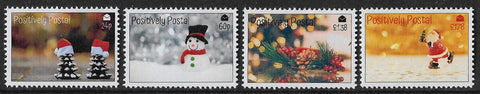 2019 Positively Postal Christmas Artistamps x 4