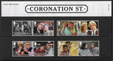 2020 Coronation Street u/m stamp and miniature sheet presentation pack