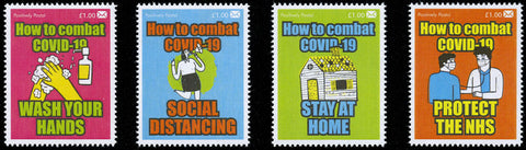 2020 Positively Postal How to Combat Covid-19 Artistamps x 4