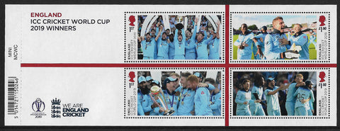 Men's World Cup Cricket Winners u/m mnh miniature sheet
