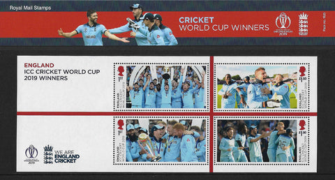 Men and Women's World Cup Cricket Winners stamp mini sheet presentation pack