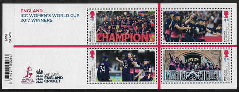 Women's World Cup Cricket Winners u/m mnh miniature sheet
