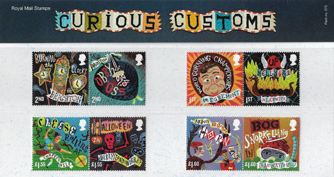 Curious Customs stamp presentation pack