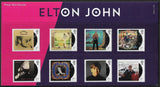 Elton John u/m mnh stamp and miniature sheet combined presentation pack