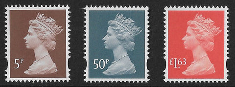 2020 End of Second World War machin stamps 5p, 50p £1.63 MPIL M20L