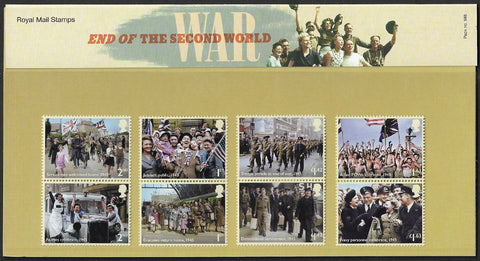 2020 End of the Second World War u/m mnh stamp and miniature sheet presentation pack