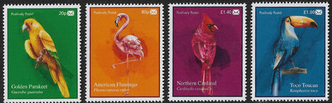 2020 Positively Postal Glorious Birds Artistamps x 4