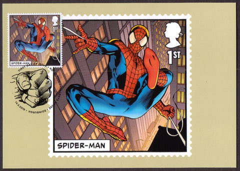 Marvel stamp PHQ cards x 15 First Day of Issue on front.