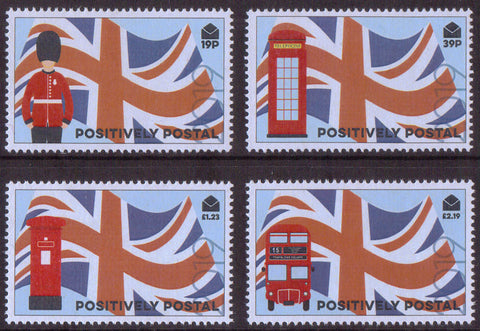 2019 Positively Postal Union Jack Artistamps x 4