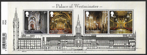 2020 Palace of Westminster u/m mnh stamp miniature sheet