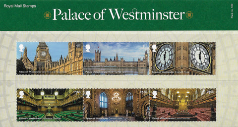 2020 Palace of Westminster u/m mnh stamp and miniature sheet presentation pack