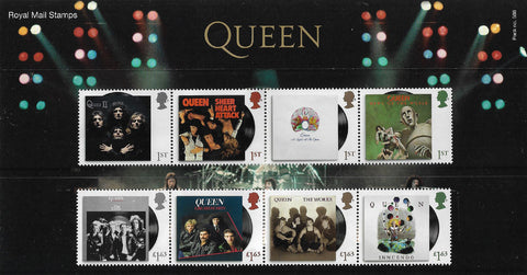 2020 Queen u/m stamp and miniature sheet presentation pack