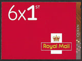 2020 Queen u/m stamp booklet 6 x 1st class with cylinder numbers